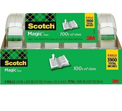 Boxed Magic Tape6 Rollsmulti-purposeinvisible34 X 650 Inches