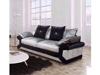 FABRIC/CRUSH VELVET SOFA LUXURY **DINO SOFA** CHEAPEST PRICE 3+2/Corner sofa 189457
