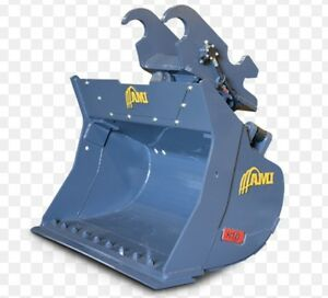 Excavator hydraulic twist bucket tilt bucket