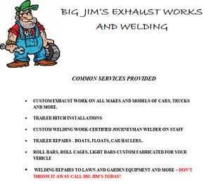Big Jim's exhaust works and welding- Mufflers and more