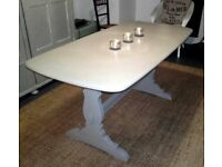 **SOLID WOOD COUNTRY / FARMHOUSE STYLE TABLE - FINISHED IN FARROW & BALL**