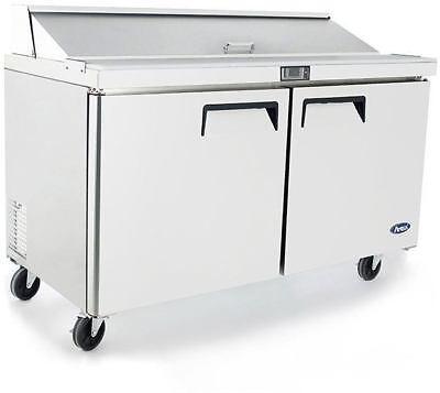 Atosa Msf8303gr 60 2 Door Saladsandwich Prep Table Refrigerate W Caster Pan