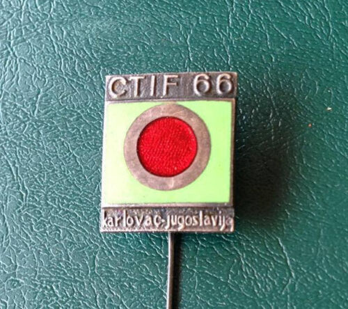 CTIF 1966 Karlovac, International firefighter competition participant badge RARE