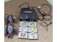 Nintendo 64 includes games and controllers