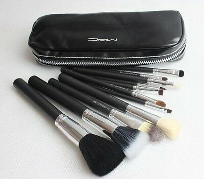 M 12 Pcs Kits New Pro Cosmetic Brushes Makeup Set Make up Tool Dres Black Case on Rummage