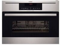 AEG KM8403021M Built-in Combination Microwave - Stainless Steel - NEW