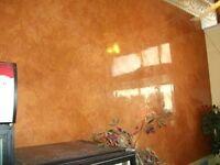 Plasterer, Venetian polished plaster, painting