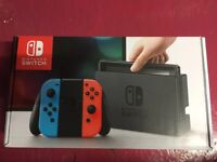 Brand New Unboxed Nintendo Switch Console Neon Red/Blue