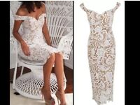 Brand new with tags white lace bodycon dress