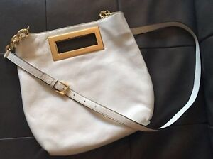 Michael Kors white cross bag with gold hardware new