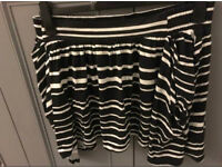 C river island stripe skirt with pockets 14