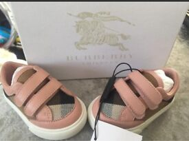 6-9 months GENUINE Burberry trainers