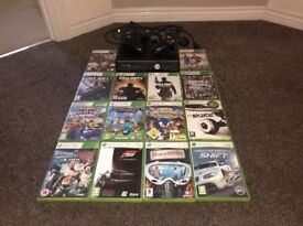 Xbox 360 Slim Black 500GB - Good as New with 14 Games including GTA V, Call of Duty and Fifa