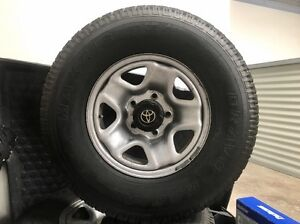 Toyota Landcruiser 100 series wheels, Bravo Radial Maxxis Tyres Wellington Point Redland Area Preview