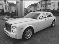 Rolls Royce phantom for hire wedding parties prom nights birthdays £99 per hour