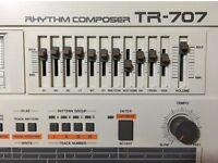 ROLAND TR-707 TR 707 DRUM MACHINE - SERVICED OCT'16. - TR808 TR909