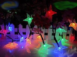 Outdoor garden Solar White RGB String LED Lights