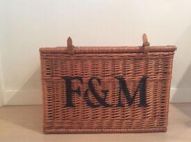 Fortnum & Mason big wicker hamper in good condition