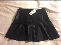 Miss Selfridge PU peplum skirt BRAND NEW