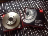 Brand new corsa C front brake discs