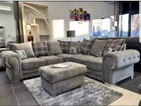 -- NEW CLASSIC SALE -- VERONA FABRIC CORNER SOFA OR 3+2 SOFA SET AVAILABLE NOW IN STOCK