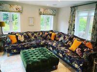 Designers Guild - Hand made bespoke corner sofa