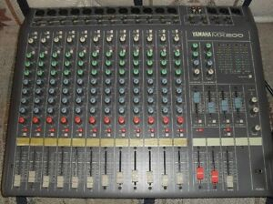 Yamaha MX200 12 channel mixer with road case