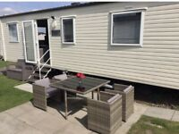 Luxury 3 bed caravan at Rockley Park to rent