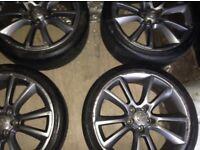 """19"""" Astra h Vxr alloy wheels & tyres"""