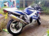 2003 Suzuki GSXR 600 Arrow exhaust, power commander, steering damper, alarm, datatag, etc