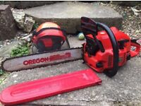 Petrol operated chainsaw - excellent condition