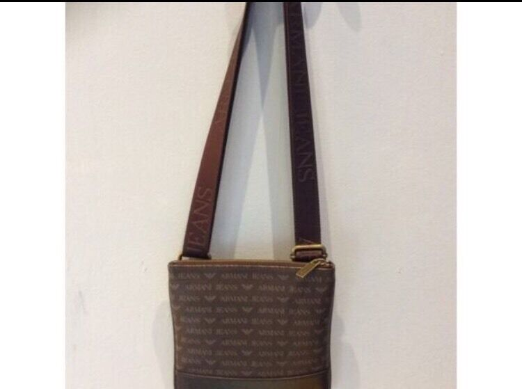 f4c7131fc808 Brown Leather Armani Jeans Men s Man Bag