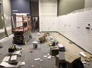 Tile and laminate installer