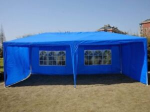 Large Blue Party Tent 10 x 20 Canopy Gazebo with Walls