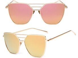 New pink & gold aviator mirrored TopShop sunglasses