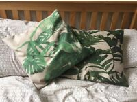 Canvas Tropical Throw Pillows (2x)
