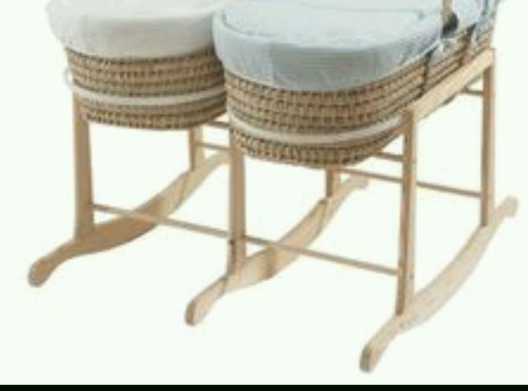 Double Rocking Moses Basket Stand