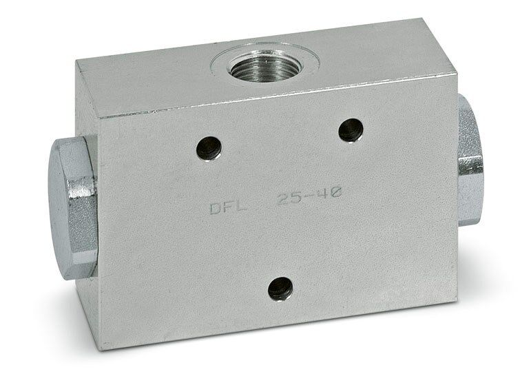 hydraulic 2 way flow divider 50/50 inlet flow 1.6 to 2.6gpm 3625psi DFL6-10