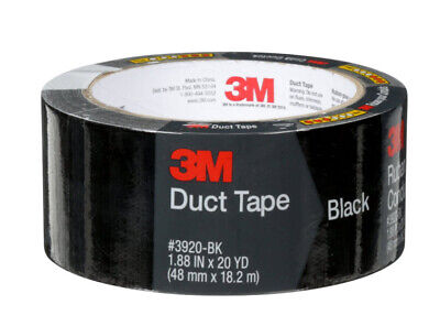 3m Duct Tape Scotch Black Duct Tape 1.88 X 20 Yd Free Shipping