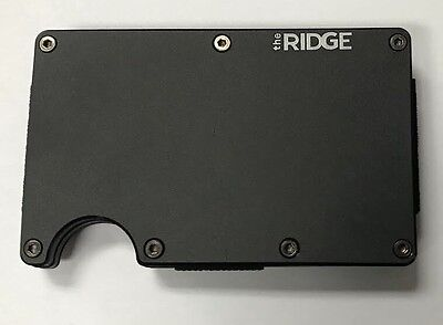 The Ridge Wallet Aluminum Black Slim + Money Clip 🌟