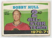 !971-72 4 OPC hockey cards Bobby Hull etc etc..