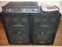 Gemini X-01 Monitor Amplifier and Speakers