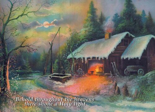 Holy Light Vintage Blacksmith Shop Scene Farrier Horseshoer Christmas Cards