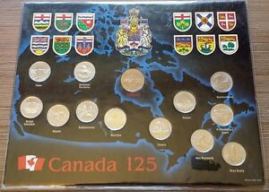 CANADA 125th ANNIVERSARY ROYAL CANADIAN MINT COMPLETE COIN SET