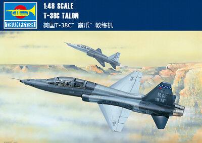 USA T-38C TALON 1/48 aircraft Trumpeter model plane kit 02877 for sale  China