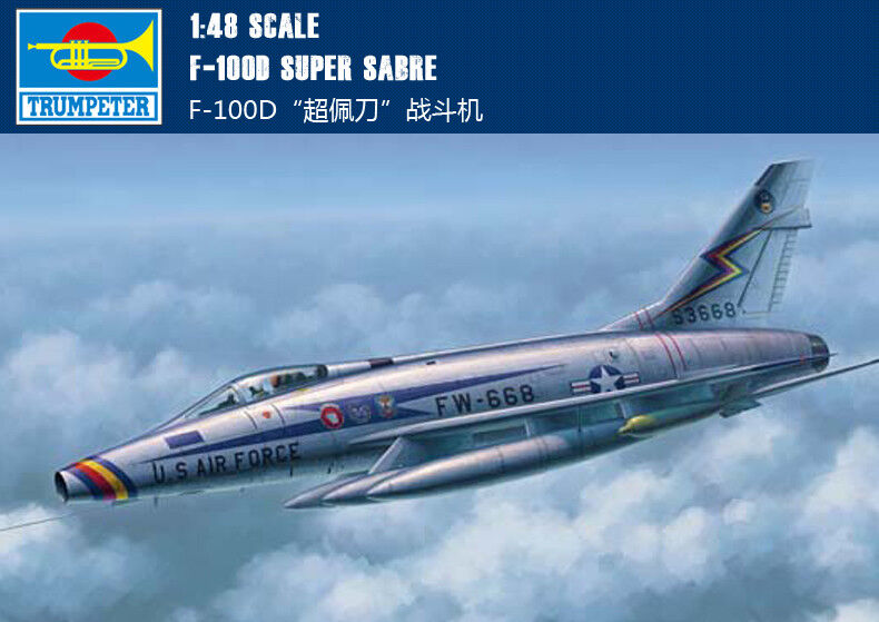 Trumpeter 1/48 02839 F-100D Super Sabre Model Kit