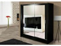 🔵💖🔴Super Sale🔵💖🔴NEW BERLIN 2&3 SLIDING DOORS WARDROBE IN 5 SIZES & IN MULTI COLORS-CALL NOW