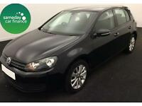 ONLY £165.72 PER MONTH BLACK 2012 VW GOLF 1.4 TSI MATCH 5 DOOR PETROL MANUAL