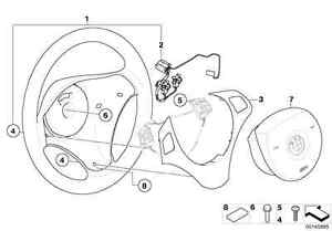 BMW-Genuine-Steering-Wheel-Cover-Trim-Black-Chrome-E92-E93-3-Series-32306795587