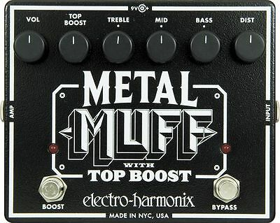 Electro Harmonix Xo Metal Muff With Top Boost Distortion Guitar Effects Pedal